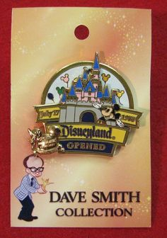 DISNEYLAND PARK OPENED DAVE SMITH RARE SPINNER MICKEY CASTLE TINKER BELL LE PIN