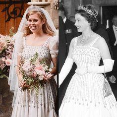 Princesa Beatrice, Royal Wedding Gowns, Royal Weddings, Wedding Dresses, Princess Beatrice Wedding, Princess Eugenie, Queen Elizabeth Wedding, Vintage Princess, Princess Kate