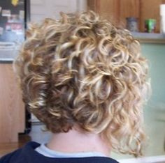 Back of my shortest cut ever! - Blonde, 3b, Short hair styles, Readers, Female, Curly hair hairstyle picture