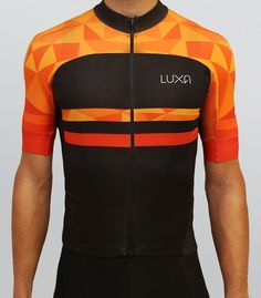 d89028426 Short sleeve cycling jersey from our Warm Orange collection. Features  intense orange and deep black colors.