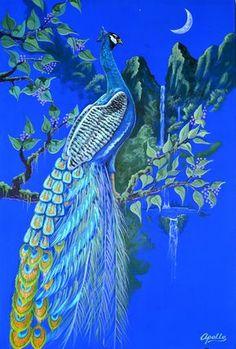 Peacock Apollo Wallpaper... By Artist Unknown...