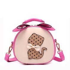 Printing Bag Ladies Crossbody Bag Circle Women Handbags with Fur Ball Women Messenger Bag