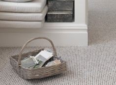 Love the grey loop carpet for hall stairs and landing.