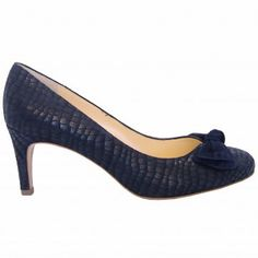 b8ac25cec18 Peter Kaiser Baska navy notte musti laser treated suede court shoes -  classic evening court shoes with modern twist of laser treated suede