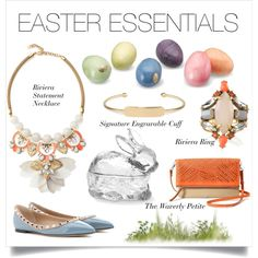 Gorgeous Easter essentials, featuring #Valentino and #StellaDot. #spring #stelladotstyle #polyvore #easter