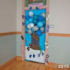 Winter Tree Door Decoration Idea, Door Decoration Ideas, Classroom ...