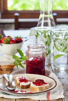 lemon and strawberry jam