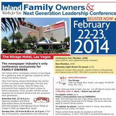 Inland's Family Owners & Next Generation Leadership Conference, February 22-23, 2014.
