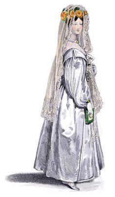 1820s Wedding Dress