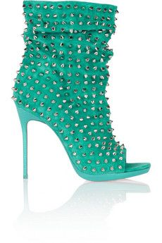 Christian Louboutin Guerilla 120 studded suede ankle boots | THE OUTNET