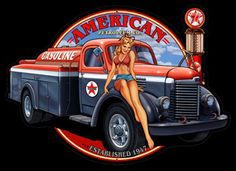 American Petro Girl Pin Up Sign
