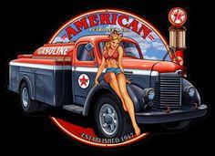 American Petro Girl Pin Up Sign