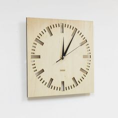 Wooden Square Wall Clock -  Index Square