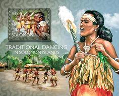 Post stamp Solomon Islands SLM 14518 bTraditional dancing in Solomon Islands (Isabel dancers)
