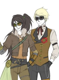 [Homestuck - Jade and Dave] Neo-Victorian style. I like.