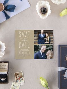 Big Type Wedding Save the Date Cards Modern Save The Dates, Rustic Save The Dates, Save The Date Magnets, Save The Date Cards, Engagement Ideas, Wedding Engagement, Destination Wedding Save The Dates, Graduation Party Invitations