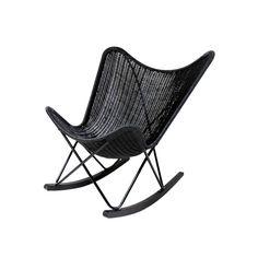 HKliving rotan schommelstoel