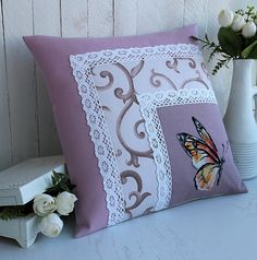Bed Cover Design, Cushion Cover Designs, Pillow Design, Cushion Covers, Pillow Crafts, Fabric Crafts, Sewing Crafts, Sewing Projects, Sewing Pillows