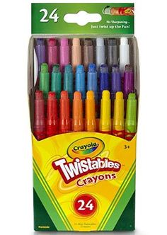 Crayola Mini Twistables Crayons, 24 Classic Crayola Colors Non-Toxic Art Tools for Kids & Toddlers 3 & Up, Great for Kids Classrooms or Preschools, Self-Sharpening No-Mess Twist-Up Crayons - Toys Indoor Activities For Kids, Fun Crafts For Kids, Twistable Crayons, Crayon Roll, Broken Crayons, Washable Paint, Bee Crafts, Scouting, Creative Kids