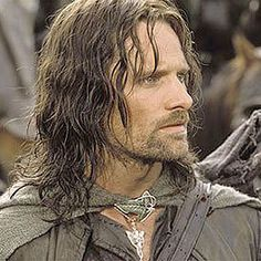 Viggo Mortensen - with long hair, a bit scruffy and wow what a look, so middle earth...