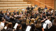 The University Concert Band performing in the afternoon.