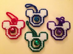 Mickey Ears Inspired Ornament With Metal Bell by MYKsKreations