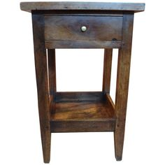 19th Century French Louis Philippe Walnut Table | From a unique collection of antique and modern side tables at https://www.1stdibs.com/furniture/tables/side-tables/