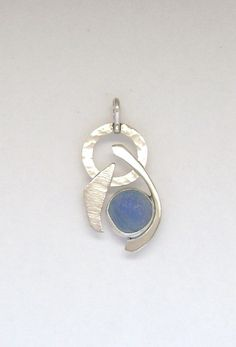 Sea Glass Jewelry  Sterling Blue Sea Glass Half by SignetureLine, $85.00