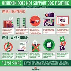 Een uitbater van een nachtclub wou Heineken promoten op een event. Hij organiseerde in die club hondengevechten. Iemand nam een foto waardoor het leek alsof Heineken dit event sponsorde. Door deze foto kwam Heineken in een storm terecht (=issue). Het merk lanceerde daarna deze PR-campagne, waarin ze duidelijk maakt dat ze er niets mee te maken hebben, en dat ze een beleidsingreep (beleid aangepast en afgestemd op de kritiek) hebben doorgevoerd: de uitbater schrappen als verdeler van…