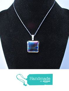 Rainbow Abstract Dichroic Glass Pendant Necklace from Art by JenniferLove http://www.amazon.com/dp/B015VZKO5E/ref=hnd_sw_r_pi_dp_WJ.Awb1HS4DVN #handmadeatamazon