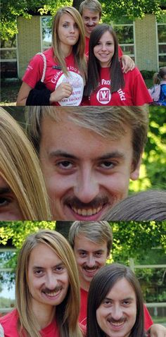 Memes {continuing} - Terrifying or Hilarious? Wtf Funny, Stupid Funny, Funny Cute, Hilarious, Funny Face Swap, Funny Photoshop, Face Swaps, Photomontage, Funny Faces
