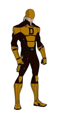 YJ style Daredevil redesign (Yellow) by shorterazer