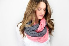 INFINITY SCARF: double sided and/or 2 interloped together
