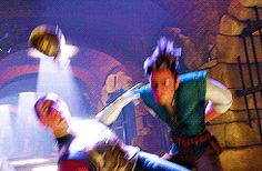 Eugene Fitzherbert. I'm determined to get the whole movie on my Tangled board just from gifs..
