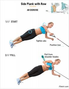 Side Plank With Rows