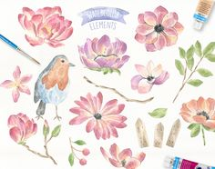Fairytale Watercolor Collection by Julia Dreams on @creativemarket