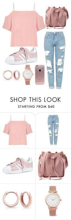 Untitled #99 by andreia-lin on Polyvore featuring T By Alexander Wang, Topshop, adidas, Bling Jewelry and Larsson & Jennings