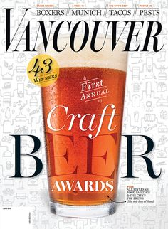 Cover illustration for the June 2015 Craft Beer Awards issue of Vancouver…