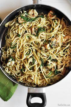 shrimp and pesto recipes