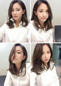 Miss A Fei's gorgeous selfie! Medium Long Hair, Medium Hair Cuts, Medium Hair Styles, Short Hair Styles, Lob Hairstyle, Permed Hairstyles, Trendy Hairstyles, Hairstyle Ideas, Asian Short Hair