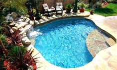 spa pool spool | Spool with waterfall | Home | Pinterest | Spa ... Zero Entry Backyard Oasis Ideas Html on