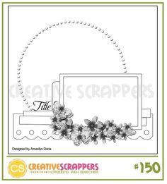 Creative Scrappers 1 photo 1 page sketch