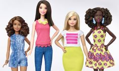 "After 57 years, Barbie has finally gotten the makeover we've all been waiting for. Mattel just introduced three new versions of the iconic doll: ""tall,"" ""petite,"" and ""curvy."" 
