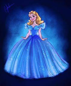 Dylan Bonner Art — 🦋Here's an Ella to celebrate 2 years since. Cinderella 2015, A Cinderella Story, Disney Princess Cinderella, Disney Princess Pictures, Disney Princesses, Cinderella Party, Arte Disney, Disney Fan Art, Disney Style