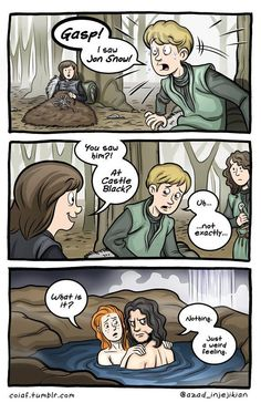 Witty Comics Based on Characters & Scenes From 'Game of Thrones' Game Of Thrones Comic, Game Of Thrones Books, Game Of Thrones Funny, John Snow, Witty Comics, Funny Comics, Game Of Throne Lustig, Valar Dohaeris, Valar Morghulis
