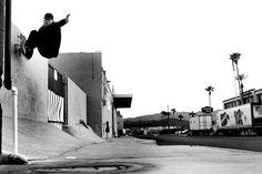 Mike Vallely Frontside Wallride Ed Dominick Skateboarding Photo