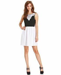 kensie Lace Textured Dress