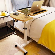 Cheap laptop desk, Buy Quality small desk directly from China laptop desk mobile Suppliers: bed with simple desk /Lazy bedside laptop desk / folding mobile small desk/Wearable PU roller Folding Table Desk, Table Sofa, Bureau Simple, Simple Desk, Office Furniture, Home Furniture, Office Chairs, Adjustable Laptop Table, Desk Styling