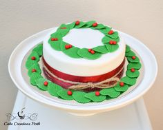 Christmas Wreath Cake – Cake Creations Perth