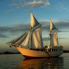 Exotic Travel: The Newest Luxury Cruise Ship: Alexa& Phinisi Boat Design Old Sailing Ships, Cool Boats, Yacht Boat, Sail Away, Boat Design, Speed Boats, Wooden Boats, Tall Ships, Water Crafts